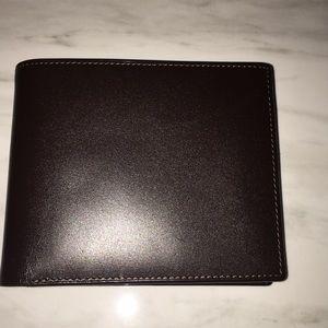 Barney's - Slim Brown Leather Billfold. NWOT